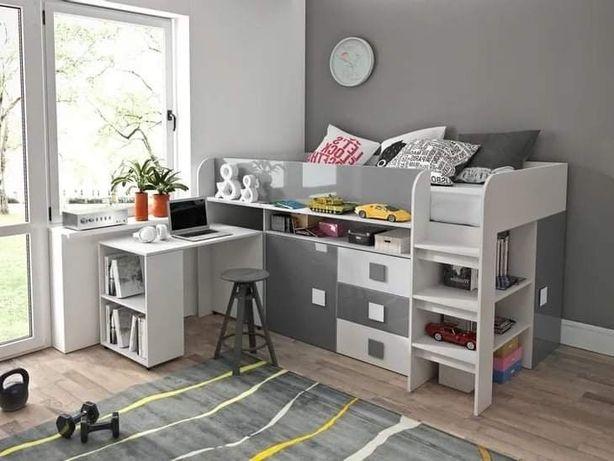 OKAZJA!!! łóżko piętrowe z biurkiem i szafą TOLEDO 1