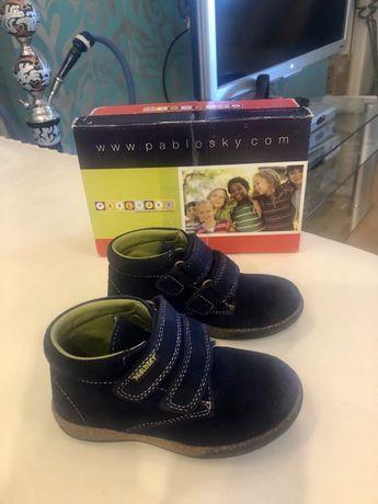 Замшевые ботинки Pablosky, размер 24, стелька 15,8 см. Испания