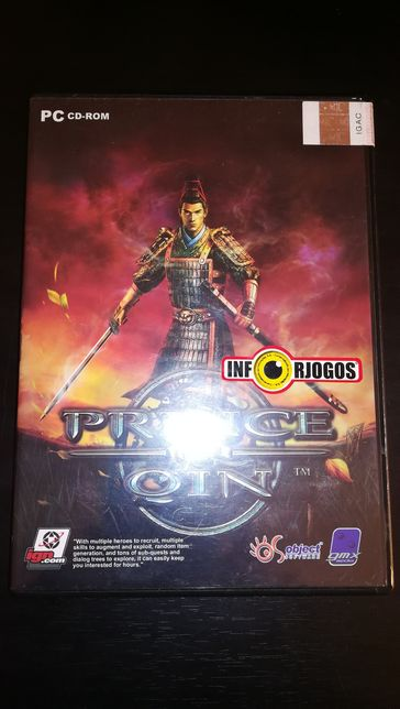 """Jogo PC """"Prince of Qin"""" (Como Novo)"""