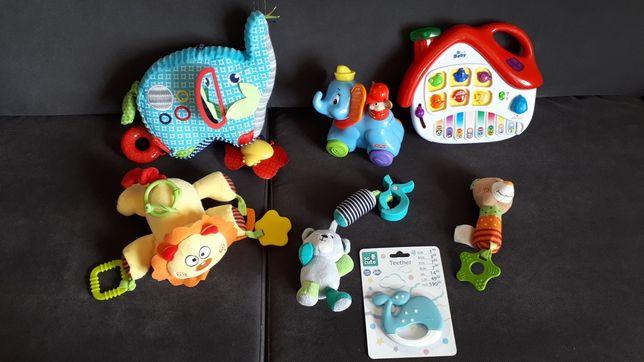 Zabawki dla chłopca niemowle gryzaki grzechotka słonik fisher Price