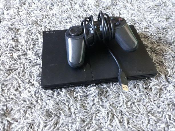 Konsola Sony Playstation 2 Ps2 Slim uszkodzona + kontroler usb
