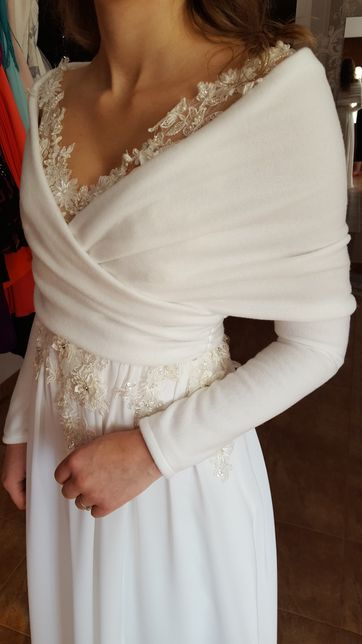 PRODUCENT NOWA Komin Etola ślubna biały ecru