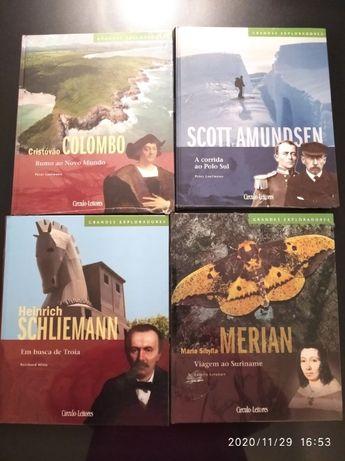 """8 Livros coleção """"Grandes Exploradores"""""""