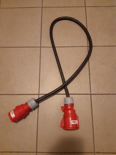 Przedłuzacz, kabel 1,5 m siłowy 32A/32A 5x6mm