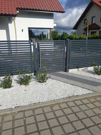 Ogrodzenia nowoczesne brama przesuwna