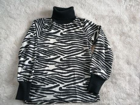Reserved golf damski M zwierzęcy wzór Zebra