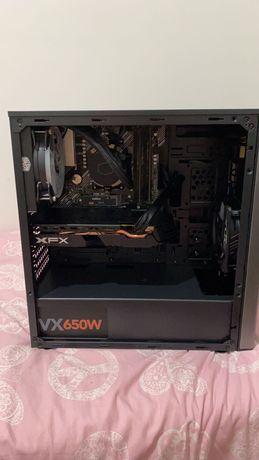 PC Gamer Ryzen 5 2600, 16GB, 512 NVME, RX 580 8GB XFX, WC, RGB