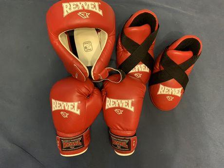 Reyvel перчатки 8oz, шлем М, защита на стопы S