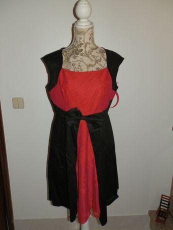 Vestido Vermelho e Preto XL NOVO