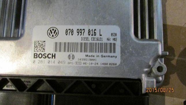 Блок управления двигателем 070997016L 070997016M VW T5 transporter 2.5