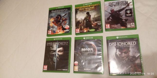 Gry na Xbox one 6 sztuk