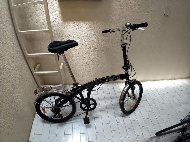 Bicicleta dobrável com mudanças roda 20