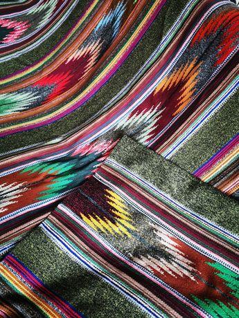 Narzuta, kilim, PRL dywan wzór etno