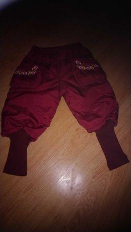 Cieple spodnie rozm 80-86