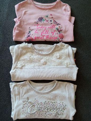 Śliczne eleganckie bluzeczki dla dziewczynki 92/98