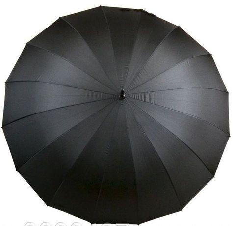 Шикарный семейный зонт трость с диам. купола 120 см на 16 спиц