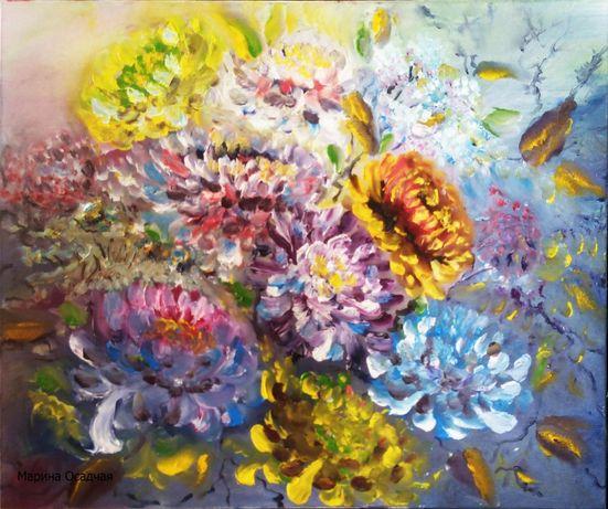 Картина цветы пейзаж портрет живопись маслом распродажа