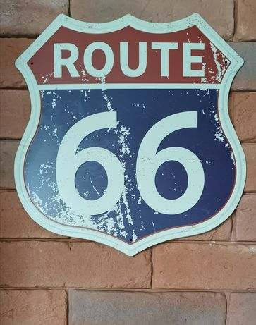 Tablica metalowa retro Route 66 nowa