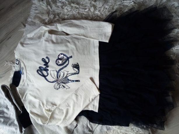 sukienka mayoral tiul falbany 146