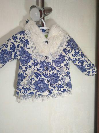 Красивая курточка для девочки на 1-1.5года
