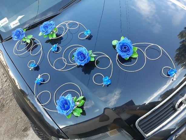 Chabrowa dekoracja na samochód chaber granat ozdoba samochodu