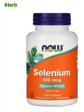 Now Foods Selenium, 100 мкг, 250 таблеток