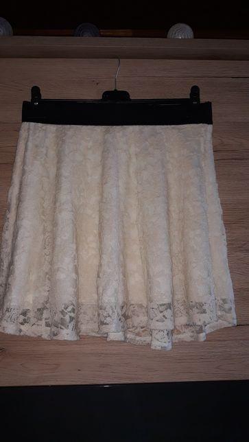 Biała koronkowa spódnica L/XL