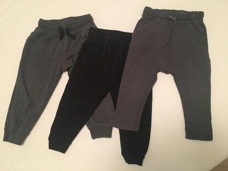 Spodnie 3 pary rozm 92