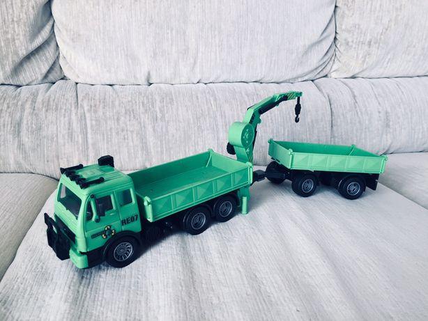 Samochodzik + przyczepa - zabawka dla dziecka