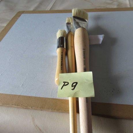 (P9) Pincel grande p/cerdo n.32pincel espatulado n.12 pincel curto n.8