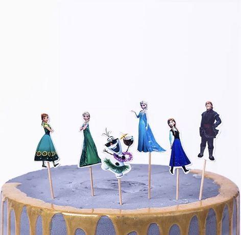 Топперы для торта, капкейков на день рождения «Холодное сердце»