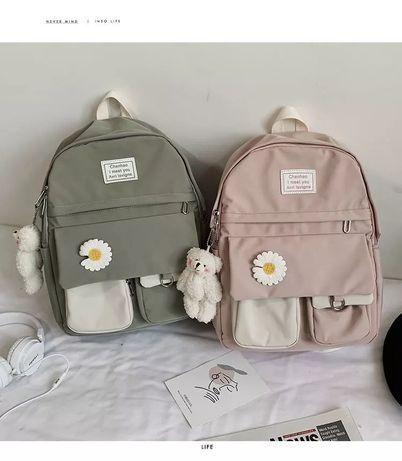 Рюкзак школьный для девочки водоотталкивающий.