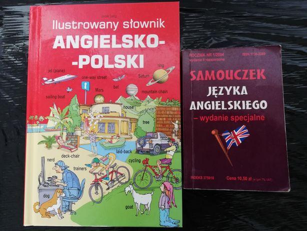 Przyjemna nauka JĘZYKA ANGIELSKIEGOx2!Jacek Lang Ilustrowany słownik!