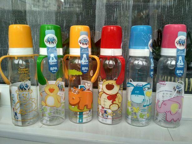 Бутылочки Canpol Baby Nova, соски на бутылочку,сменные мягкие носики