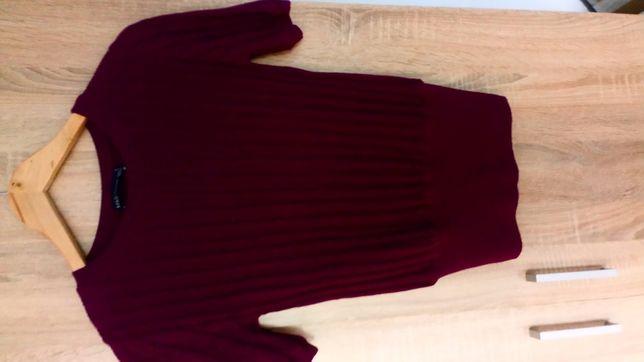 Bordowy sweterek M&S rozmiar S