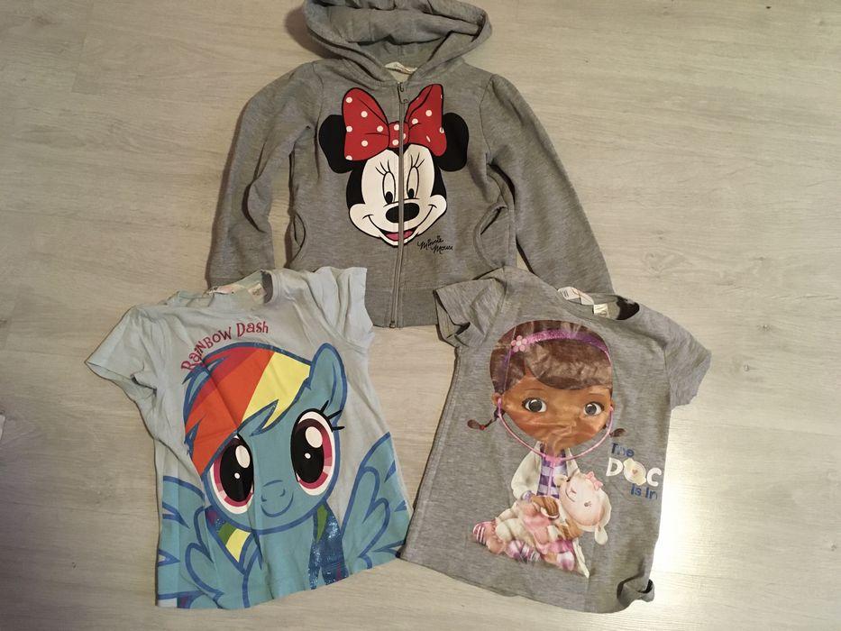 Zestaw H&M bluza Minnie + 2 bluzki Dosia Pony 110/116 Słone - image 1