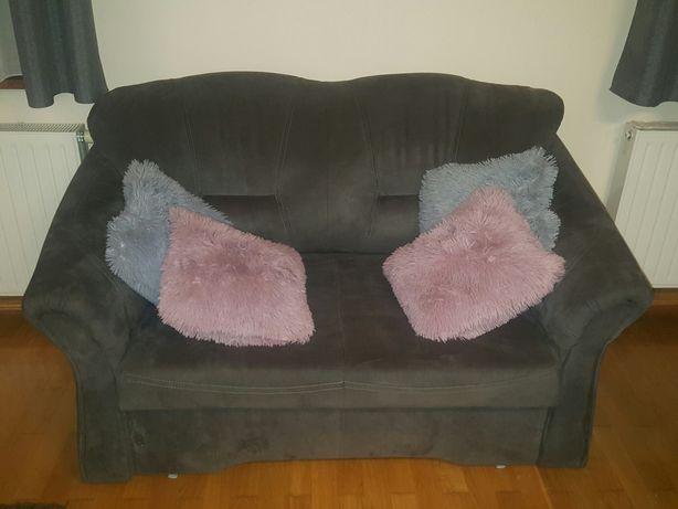 Sofa 2 osobowa z funkcją spania, rozkladana, szara