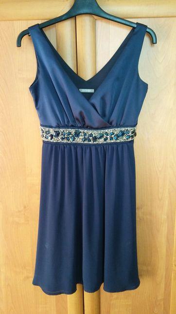 Granatowa sukienka Orsay ze zdobieniem rozm. 34