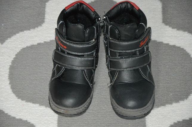 Buty, trapery chłopięce,zimowe,przylepce i zamek NOWE rozmiar 29, 19cm