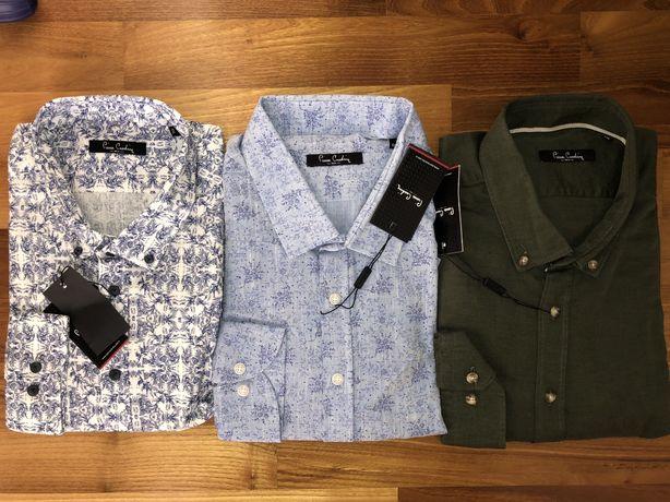 Мужская рубашка от PIerre Cardin 100% оригинал лён ,хлопок размер ХХЛ