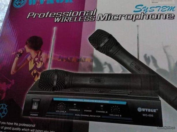 Microfones sem Fio com regulaçao de som