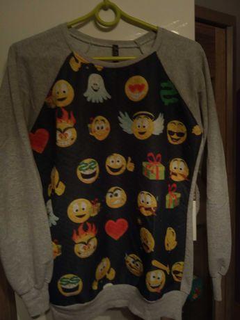 Szara bluza z emotikonami