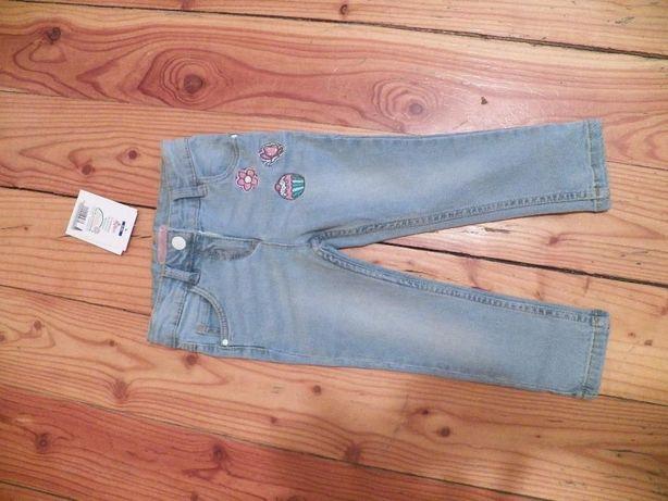 Jeansy , spodnie dziewczęce 92CM nowe
