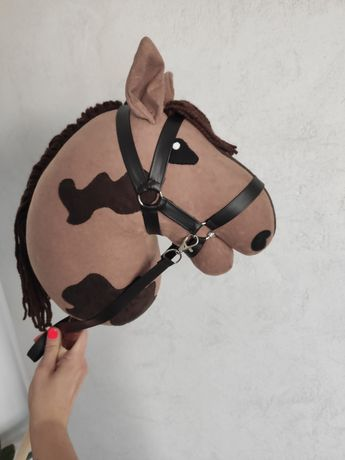 Hobby Horse/koń na kiju + ogłowie/kantar i wodze