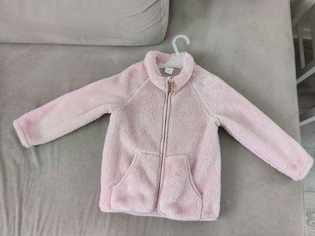Futerko bluza kurtka polar h&m 98 różowe next zara