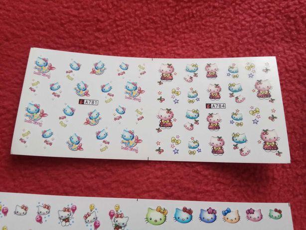 Naklejki na paznokcie Hello Kitty 6 wariantów