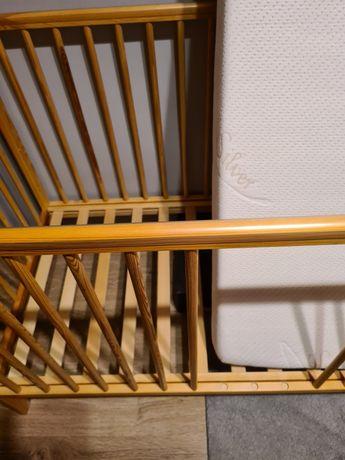 Łóżeczko + materac antybakteryjny gryko kokos Silver 120x60