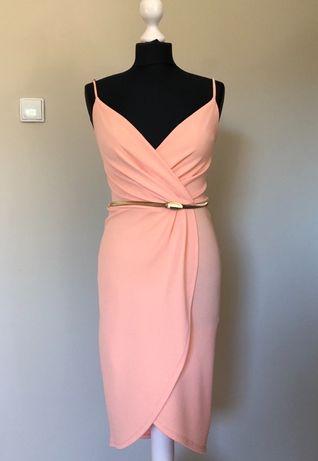 Sukienka Miss Selfridge łososiowa, morelowa, pudrowy róż, wesele