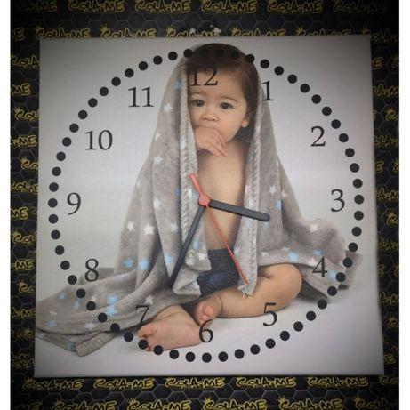 Tela Relógio- 30X30CM - Foto Cliente