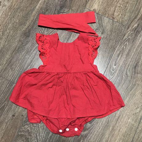 Плаття-боді для дівчинки 80 розмір